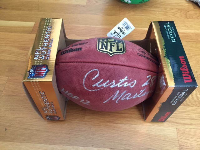 Curtis Martin Signed Ball