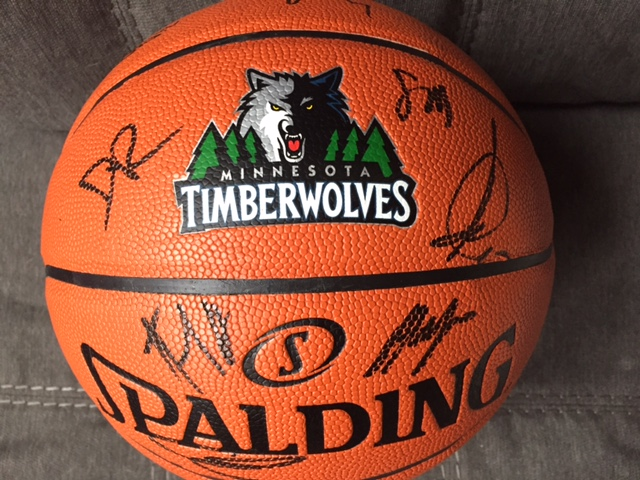 2016-2017 Minnesota Timberwolves Signed Basketball